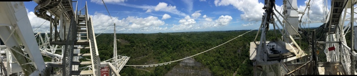 Atop the Arecibo Observatory main dish