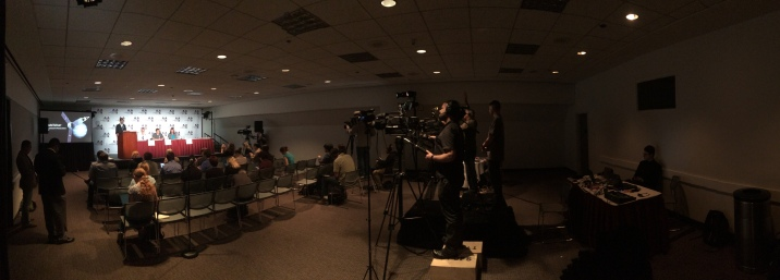 Behind the scenes at a NASA JPL press briefing